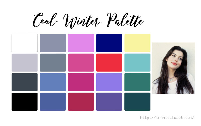 Some colors from the Cool Winter palette