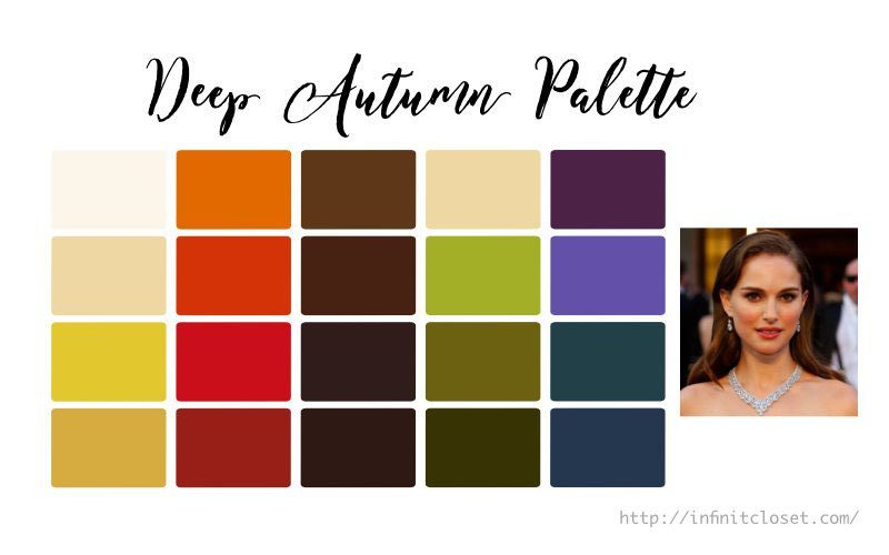 Some colors from the Deep Autumn palette