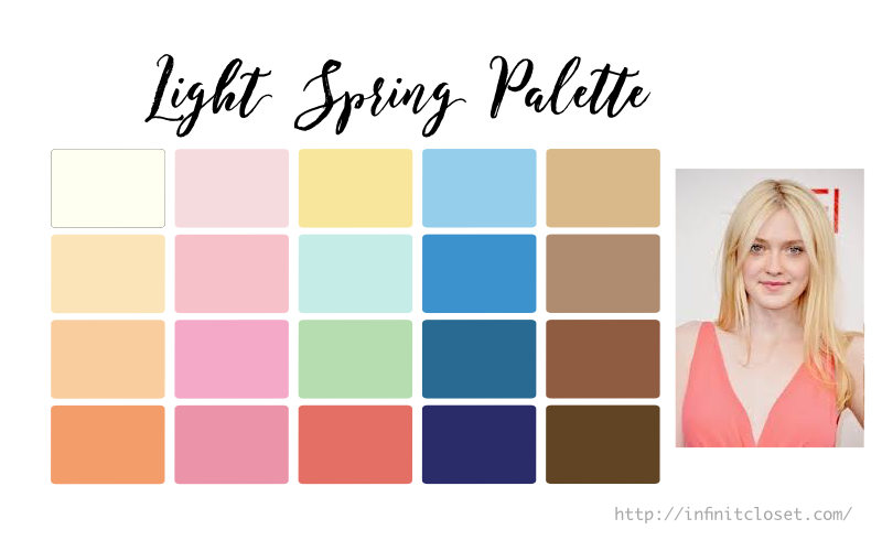Light Spring Palette Infinite Closet