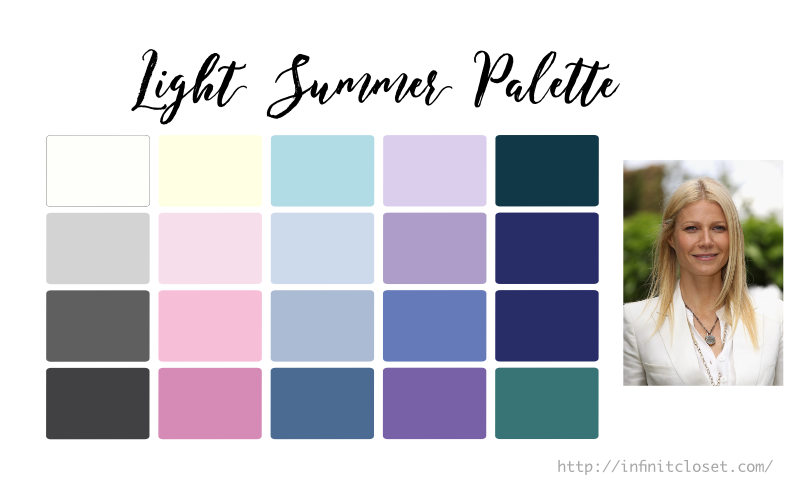 Some colors from the Light Summer palette