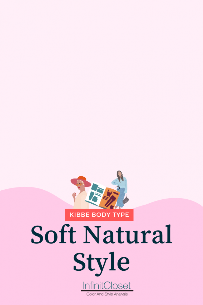 soft natural style heading text with infinit closet logo below